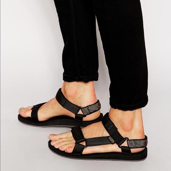 43f27ee87c4 Teva classic black sandals